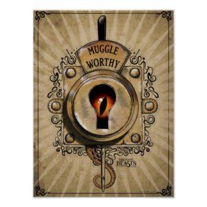 MUGGLE WORTHY™ Lock Poster