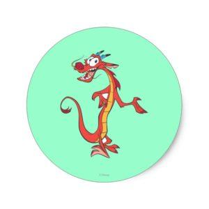Mushu 2 classic round sticker