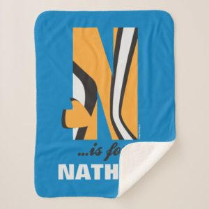 N is for Nemo | Add Your Name Sherpa Blanket