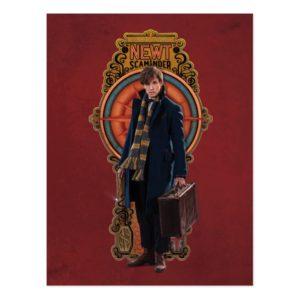 NEWT SCAMANDER™ Standing Art Nouveau Panel Postcard