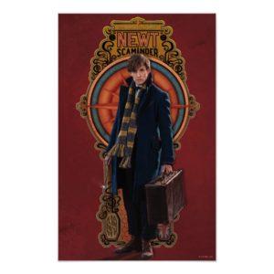 NEWT SCAMANDER™ Standing Art Nouveau Panel Poster