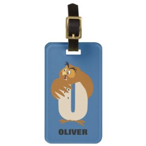 O is for Owl   Add Your Name Bag Tag