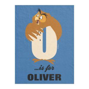O is for Owl | Add Your Name Fleece Blanket