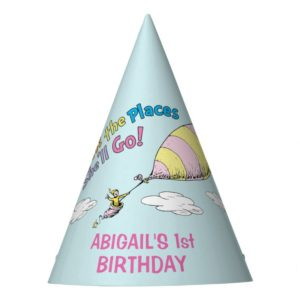 Oh! The Places She'll Go! - First Birthday Party Hat