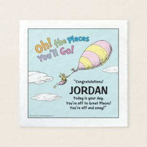 Oh! The Places You'll Go! Graduation Announcement Paper Napkin
