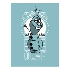 Olaf   I Love Heat Postcard