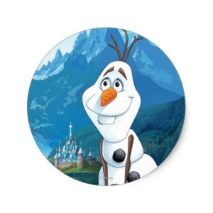 Olaf   Today Will be Perfect Classic Round Sticker