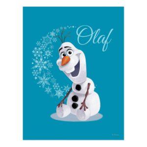 Olaf   Wave of Snowflakes Postcard