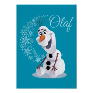 Olaf | Wave of Snowflakes Poster