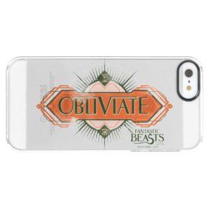 Orange Art Deco Obliviate Spell Graphic Uncommon iPhone Case