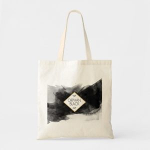 Orphan Black Black Watercolor Tote Bag