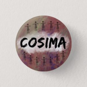 Orphan Black button / badge - Cosima