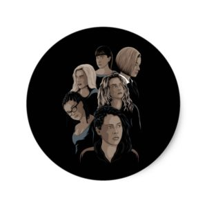 Orphan Black Illustrated Sticker
