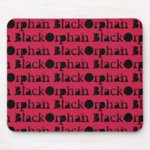 Orphan Black TV show name in distressed font Mouse Pad