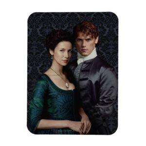 Outlander   Claire And Jamie Damask Portrait Magnet