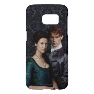 Outlander | Claire And Jamie Damask Portrait Samsung Galaxy S7 Case
