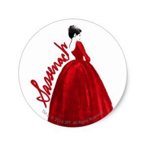 Outlander | Claire In A Red Dress Sassenach Classic Round Sticker