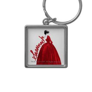 Outlander | Claire In A Red Dress Sassenach Keychain