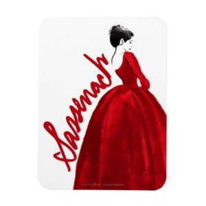 Outlander | Claire In A Red Dress Sassenach Magnet