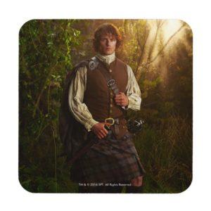 Outlander | Jamie Fraser - In Woods Beverage Coaster