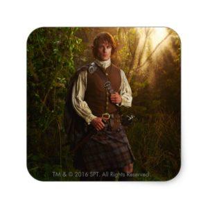 Outlander | Jamie Fraser - In Woods Square Sticker