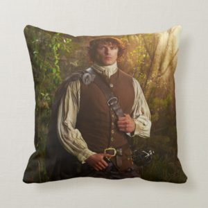 Outlander | Jamie Fraser - In Woods Throw Pillow