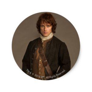 Outlander | Jamie Fraser - Kilt Portrait Classic Round Sticker