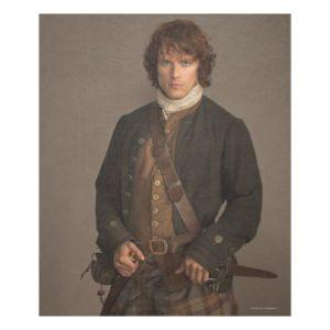 Outlander | Jamie Fraser - Kilt Portrait Fleece Blanket