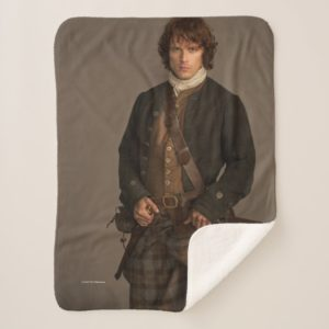 Outlander | Jamie Fraser - Kilt Portrait Sherpa Blanket