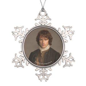 Outlander | Jamie Fraser - Kilt Portrait Snowflake Pewter Christmas Ornament