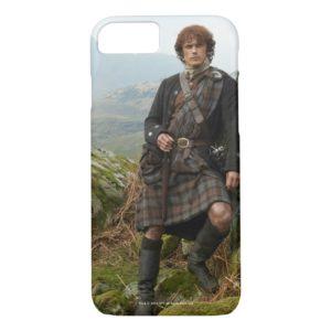 Outlander   Jamie Fraser - Leaning On Rock Case-Mate iPhone Case