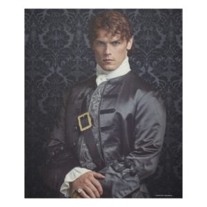 Outlander   Jamie Fraser - Portrait Fleece Blanket