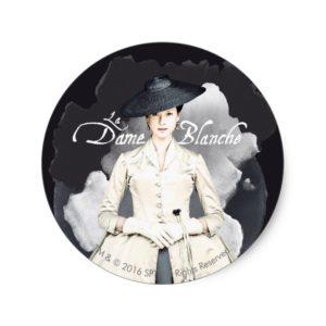 Outlander | Outlander La Dame Blanche Classic Round Sticker