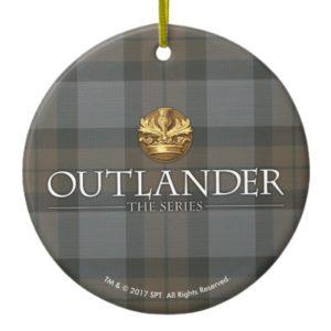 Outlander   Outlander Title & Crest Ceramic Ornament