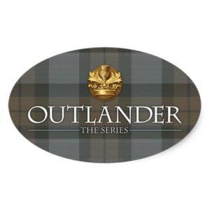 Outlander | Outlander Title & Crest Oval Sticker