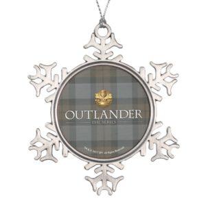Outlander | Outlander Title & Crest Snowflake Pewter Christmas Ornament
