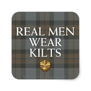 Outlander | Real Men Wear Kilts Square Sticker