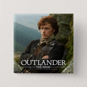 Outlander | Reclining Jamie Fraser Photograph Pinback Button