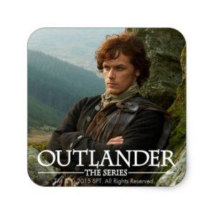 Outlander | Reclining Jamie Fraser Photograph Square Sticker