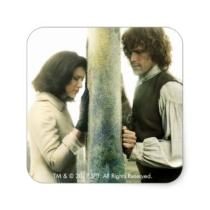 Outlander Season 3 | Claire and Jamie Square Sticker