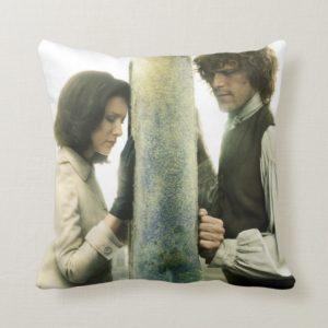 Outlander Season 3   Claire and Jamie Throw Pillow