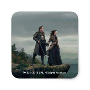 Outlander Season 4 | Brave the New World Square Sticker