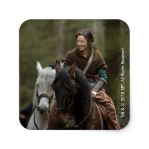 Outlander Season 4 | Claire Smiling Square Sticker