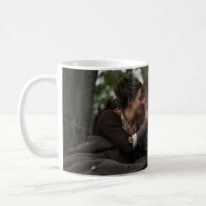 Outlander Season 4   Jamie & Claire Cuddling Coffee Mug