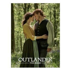 Outlander Season 4 | Jamie & Claire Hug in Woods Postcard