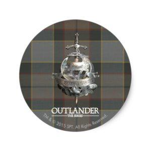 Outlander | The Fraser Brooch Classic Round Sticker