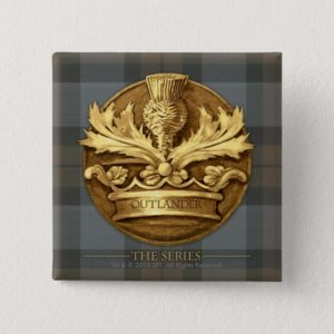 Outlander | The Thistle Of Scotland Emblem Button