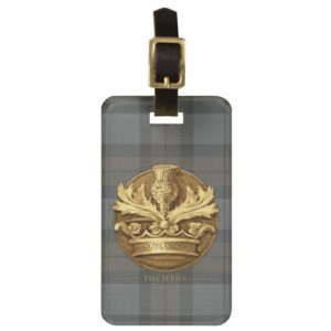 Outlander | The Thistle Of Scotland Emblem Luggage Tag