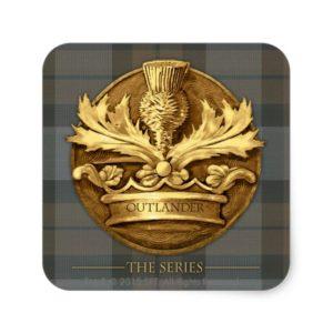Outlander | The Thistle Of Scotland Emblem Square Sticker