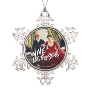 Outlander   Vive Les Frasers Snowflake Pewter Christmas Ornament